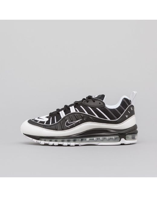 afc0ff845a8468 Nike - Metallic Air Max 98 In Black white Reflective Silver for Men - Lyst  ...