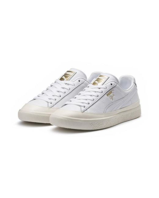 e69560110c42 PUMA - White Clyde Rubber Toe Leather for Men - Lyst ...