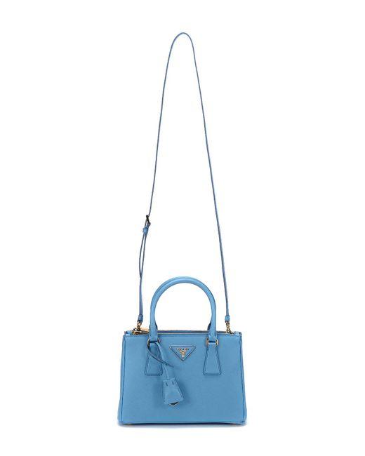 ... get prada blue 17ss womens saffiano lux small galleria bag 1ba896 mare  e099a f12f8 c858865fecb61