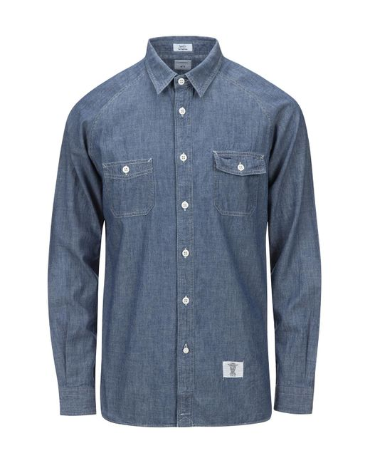 """Bedwin And The Heartbreakers - Blue L/s Chambray Work Shirt """"bob"""" for Men - Lyst"""