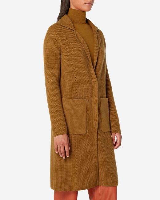 N.Peal Cashmere - Brown Cardigan Stitch Cashmere Coatigan - Lyst