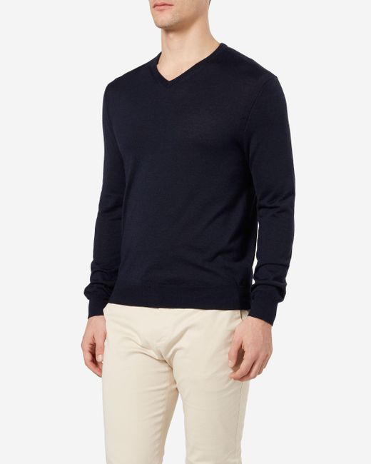 N.Peal Cashmere | Blue The Conduit Fine Gauge Sweater for Men | Lyst