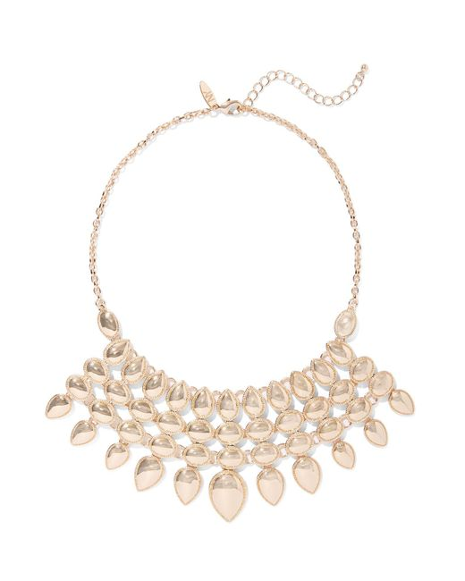 New York & Company - Metallic Goldtone Statement Necklace - Lyst