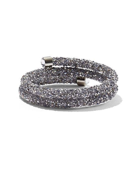 New York & Company - Metallic Crystalline Wrap-around Cuff Bracelet - Lyst