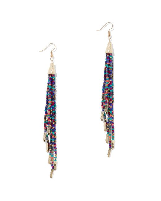 New York & Company - Blue Multicolor Beaded Drop Earring - Lyst