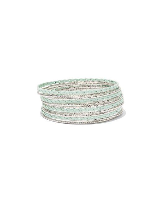 New York & Company - Green Goldtone Painted Stretch Bracelet - Lyst