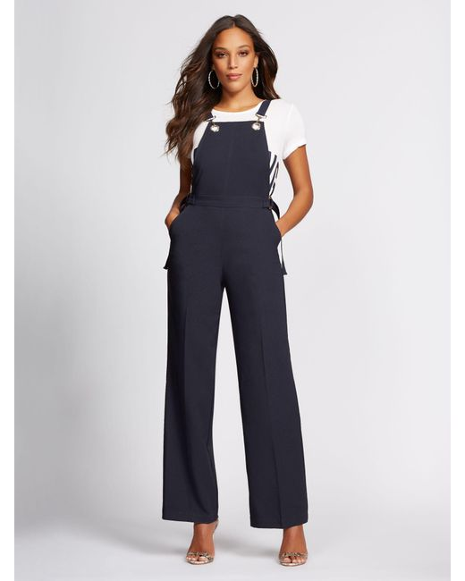 4236ae41 New York & Company - Blue Navy Grommet-accent Overall - Gabrielle Union  Collection -