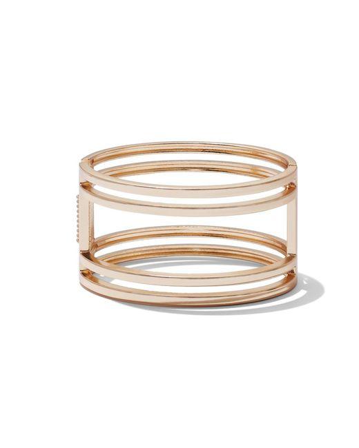 New York & Company - Metallic Goldtone Open Cuff Bracelet - Lyst