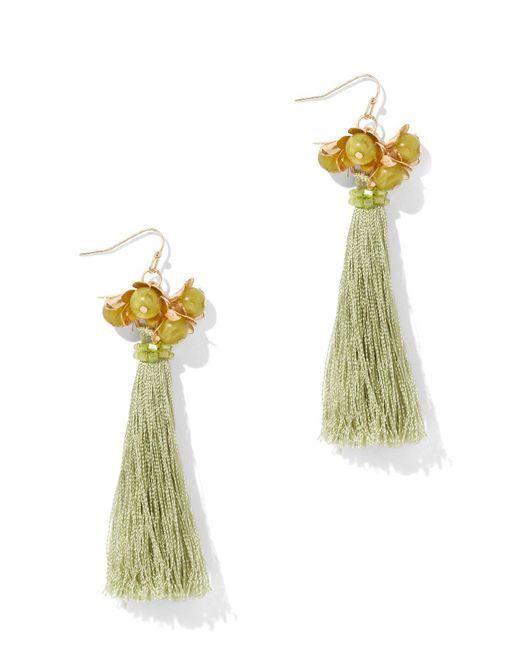 New York & Company - Multicolor Linear Tassel Earring - Lyst