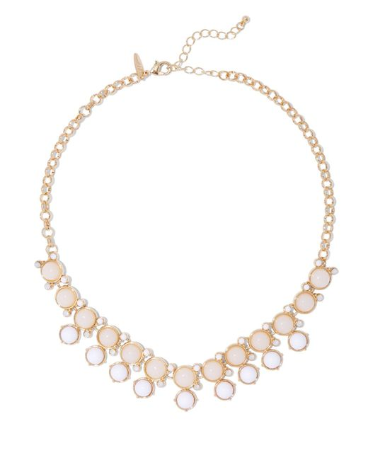 New York & Company - Metallic Double-row Beaded Goldtone Necklace - Lyst