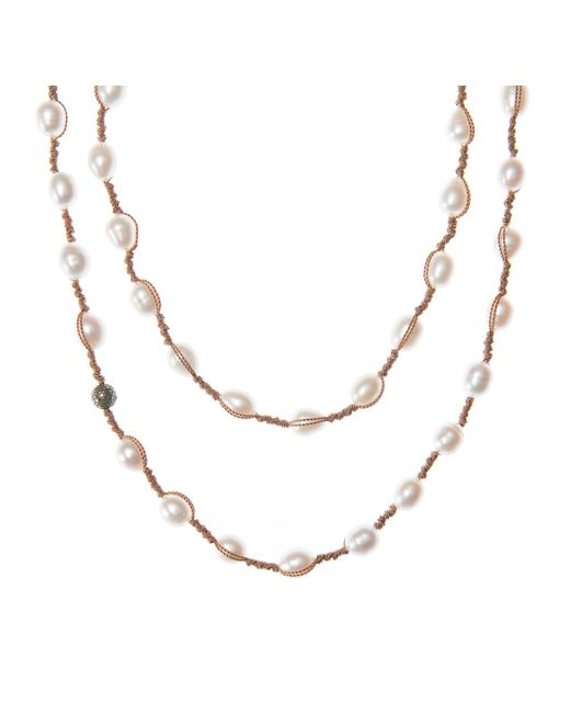 "Jordan Alexander | White 52"" Pearl Necklace 