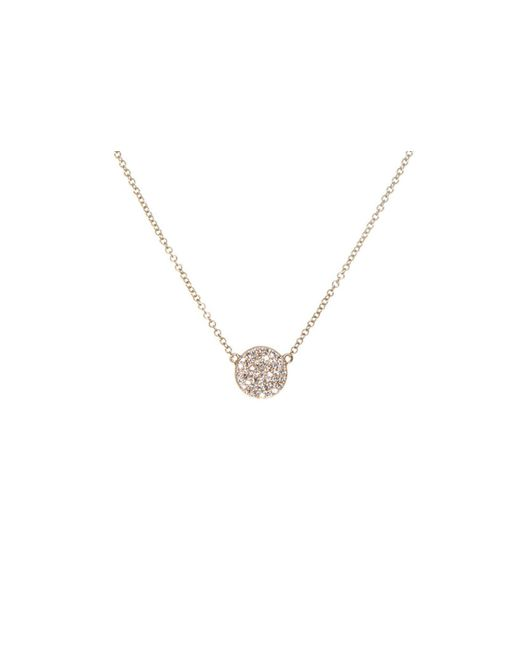 EF Collection - Metallic Diamond Disc Necklace - Lyst