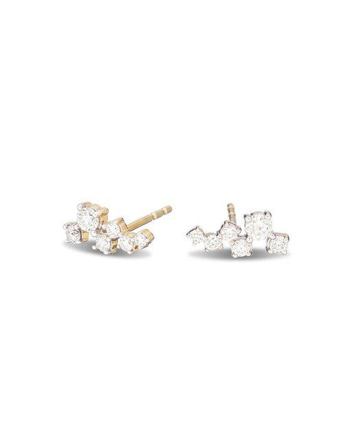 Adina Reyter - Metallic Scattered Diamond Posts - Lyst