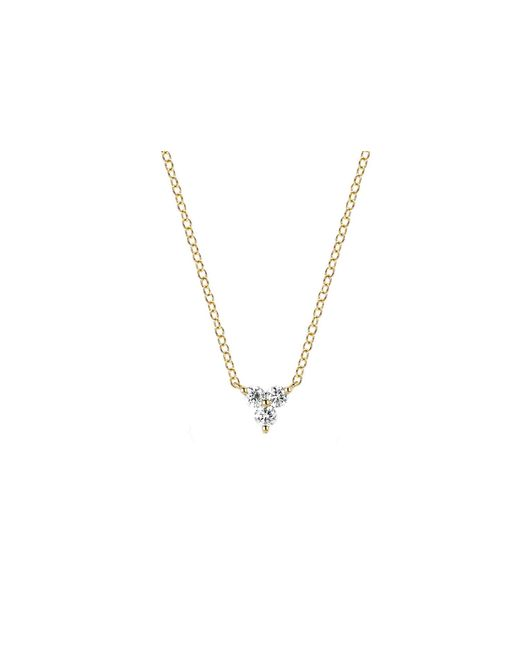 EF Collection - Metallic Diamond Trio Necklace - Lyst