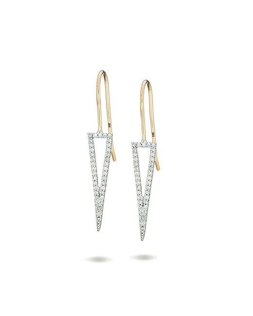 Adina Reyter - Metallic Long Open Triangle Earrings - Lyst