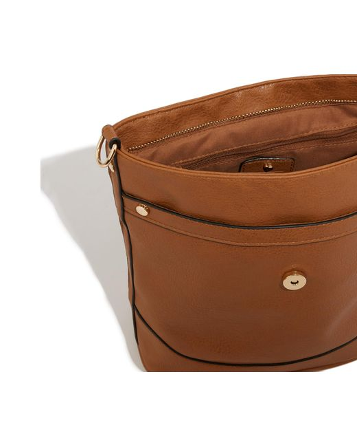 1226576764a33 ... Oasis - Brown Brooke Bucket Cross-body Bag - Lyst ...