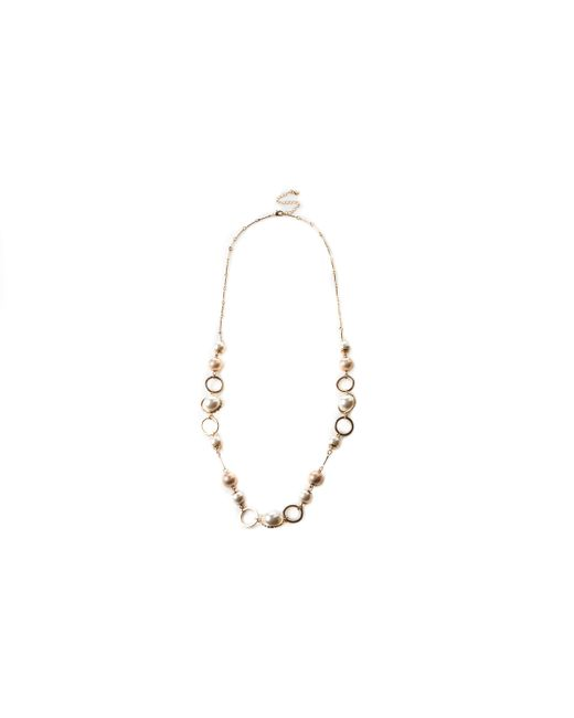 Oasis - Metallic Crystal Pearl Rope Necklace - Lyst