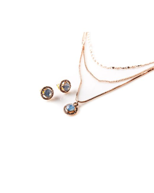 Oasis - Metallic Delicate Layered Necklace And - Lyst