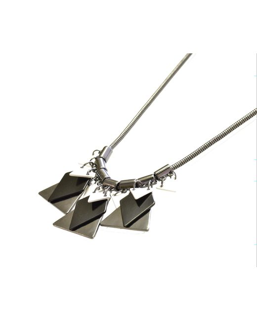 Oasis | Gray Geometric Necklace | Lyst