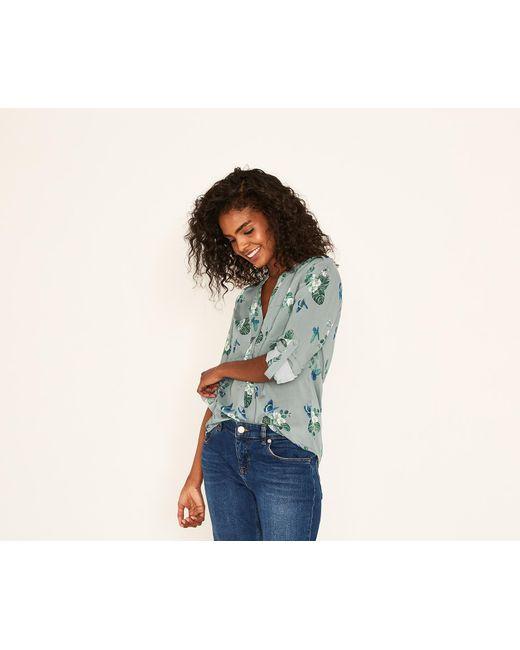 Oasis - Green Butterfly Shirt - Lyst