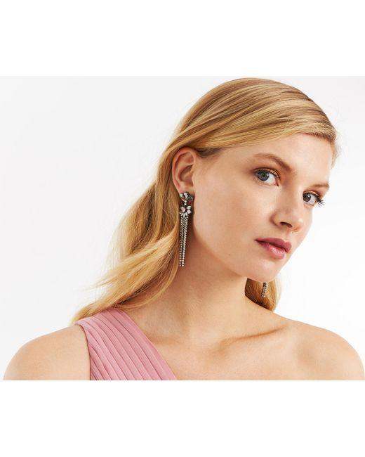Oasis - Multicolor Crystal Chain Earrings - Lyst