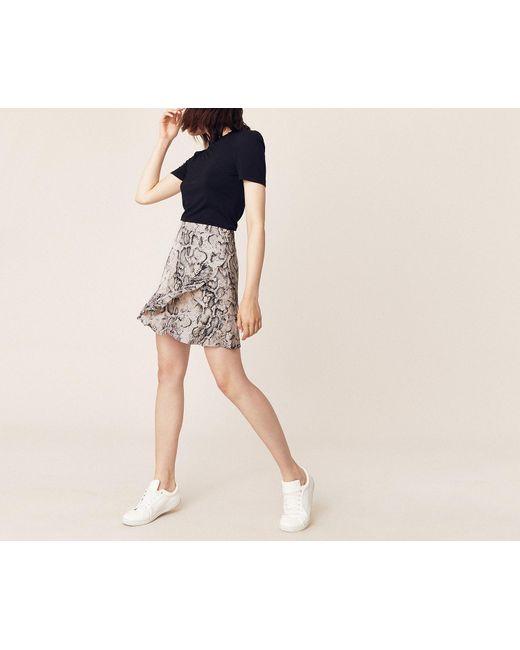 5566fc6078 Oasis - Multicolor Snake Frill Mini Skirt - Lyst ...