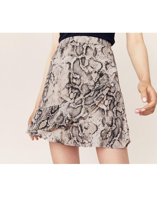 ad4302a929 ... Oasis - Multicolor Snake Frill Mini Skirt - Lyst