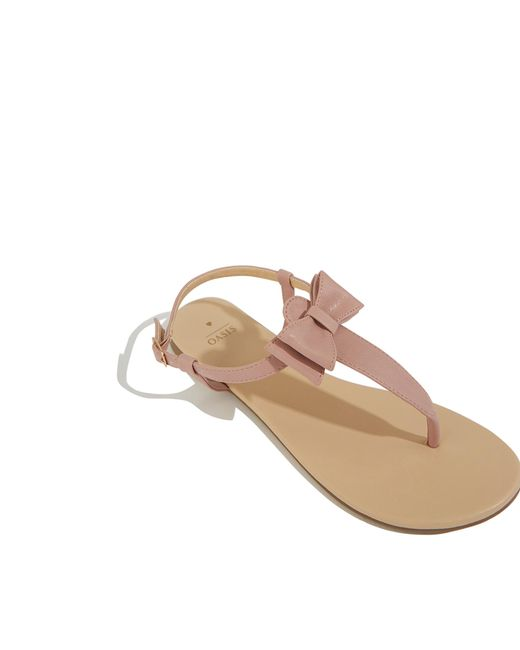 a68864a12a1a ... Oasis - Multicolor Bow Toepost Sandal - Lyst ...