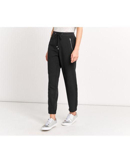 Oasis | Black Sporty Cuff Trouser | Lyst