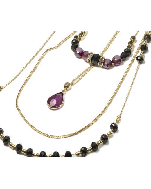 Oasis   Metallic Three Row Beaded Necklace   Lyst