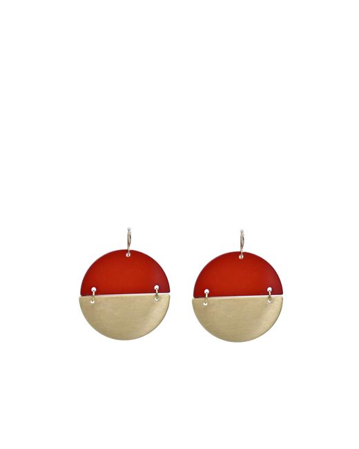 Oasis | Gold And Red Earrings | Lyst