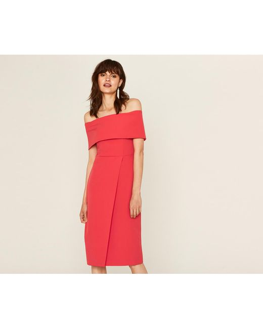 Lyst Oasis Evening Bardot Dress In Red