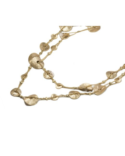 Oasis | Metallic Layered Disc Necklace | Lyst