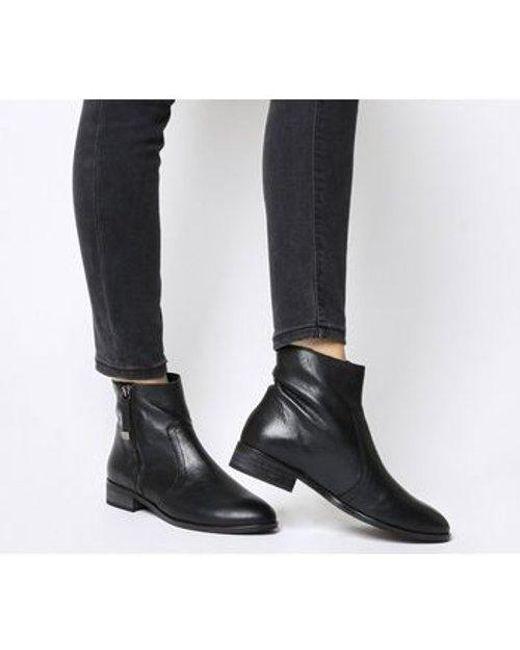 d5954192b5f Women's Black Actor- Side Zip Flat Ankle Boot