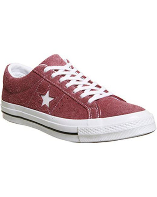 Converse - Red One Star - Lyst