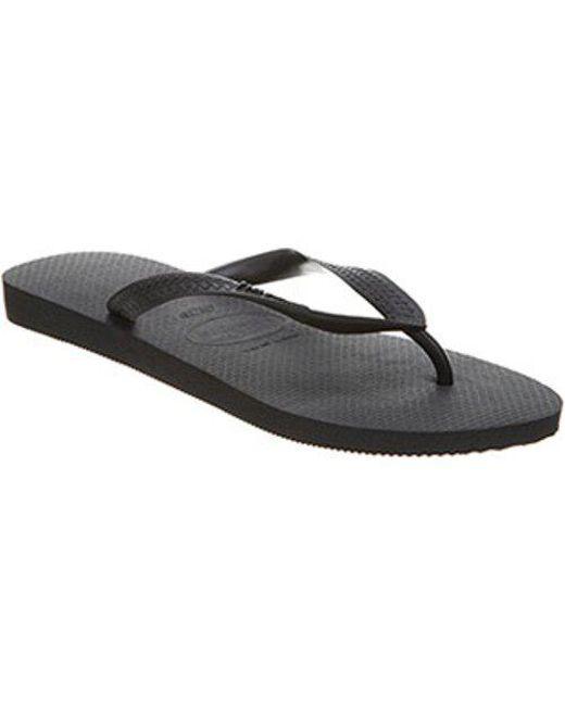 513b3acf510 Havaianas Top Flip Flop in Black for Men - Lyst