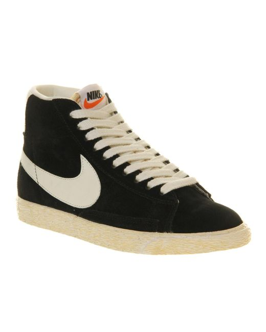 Nike | Black Blazer Hi Vintage Suede Sneakers for Men | Lyst