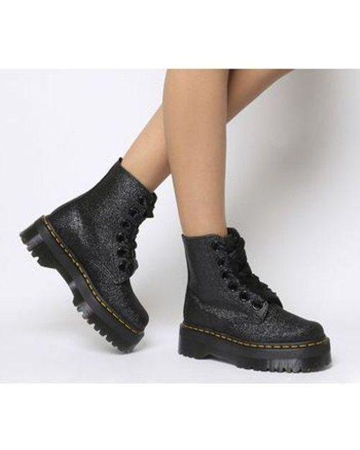 553da043594 Dr. Martens Molly Glitter Boot in Black - Lyst