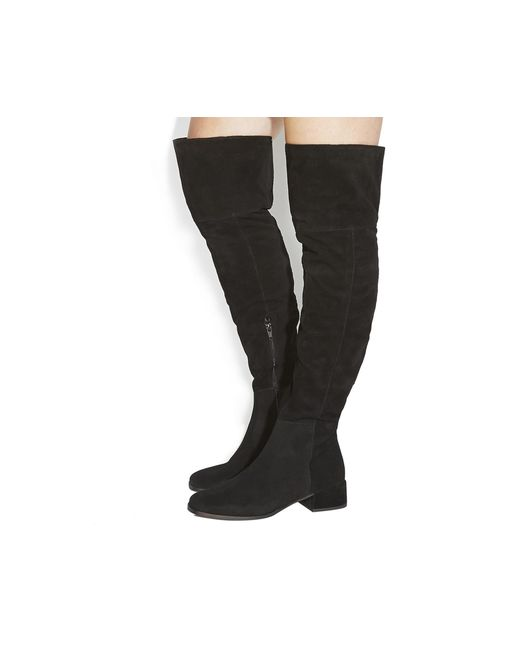 Office | Black Esme Block Heel Over The Knee Boots | Lyst