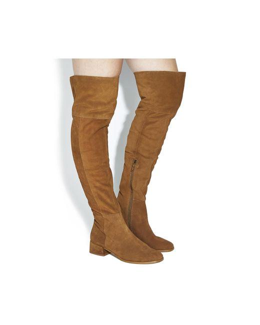 Office | Brown Esme Block Heel Over The Knee Boots | Lyst