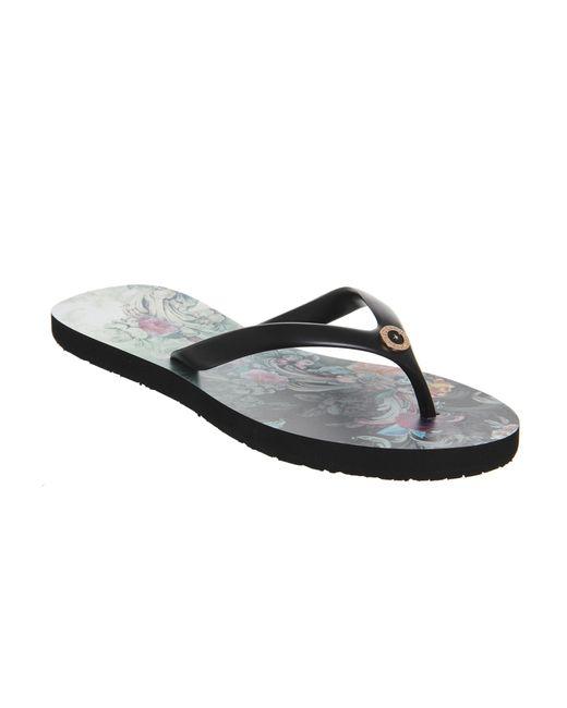 Ted Baker | Black Ryasa Flip Flops | Lyst