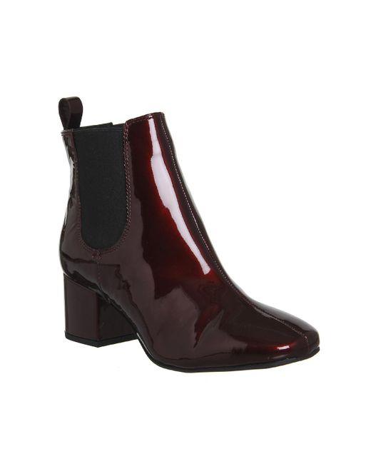 office bug block heel chelsea boots lyst