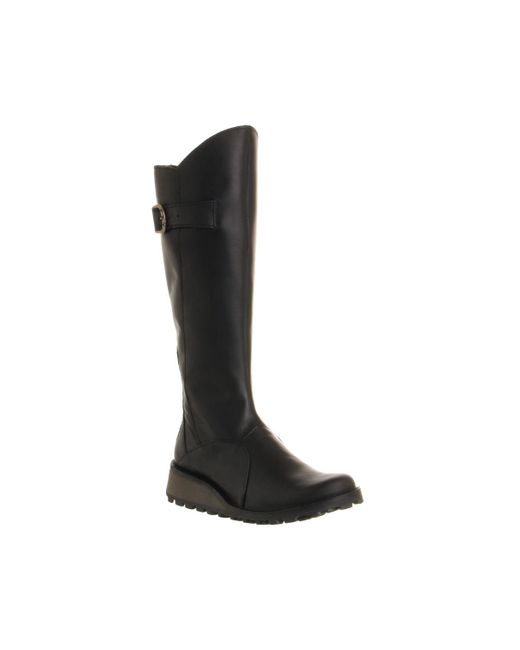 Fly London | Brown Mol Low Wedge Buckle Boots | Lyst