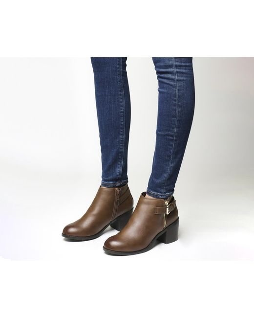 Office   Brown Academy Double Zip Boots   Lyst