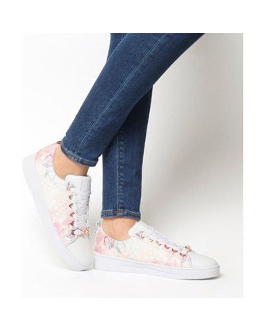 42eaf55c59d4c3 Ted Baker Ahfira Sneaker Of in White - Lyst
