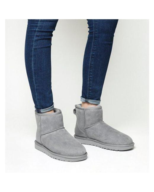 Ugg - Gray Classic Mini Metallic Ii - Lyst