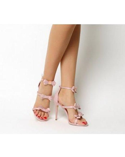 9074fad8c Lyst - Ted Baker Nuscala Bow Heel in Pink