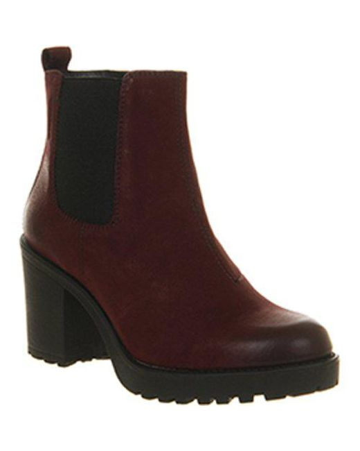 38c417a0f9ca Vagabond Grace Heeled Chelsea Boots in Red - Lyst