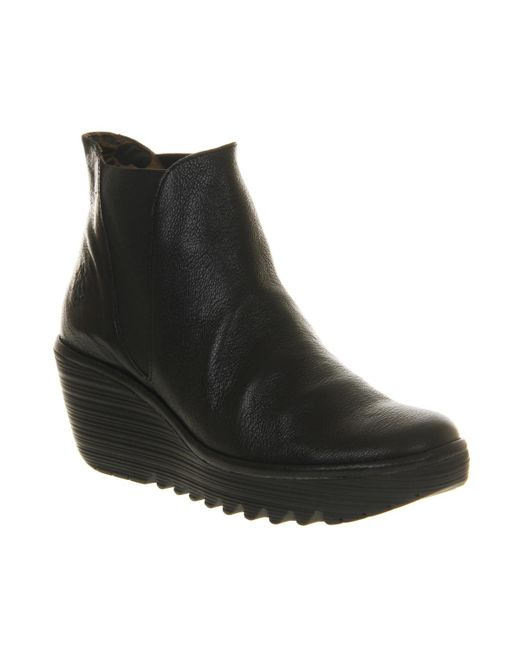 Fly London | Black Yoss Ankle Boots | Lyst