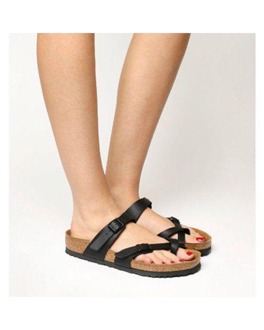 2dcd216140a Birkenstock Mayari Cross Strap Sandal in Metallic - Lyst